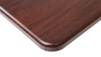Thermolaminate Tabletop with Bullnose Edge, Tier 2 Finishes