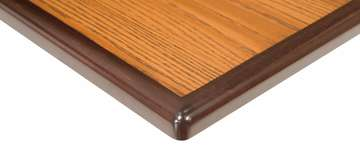 Laminate Tabletop with Maple Bullnose Wood Edge, Tier 1 Finishes
