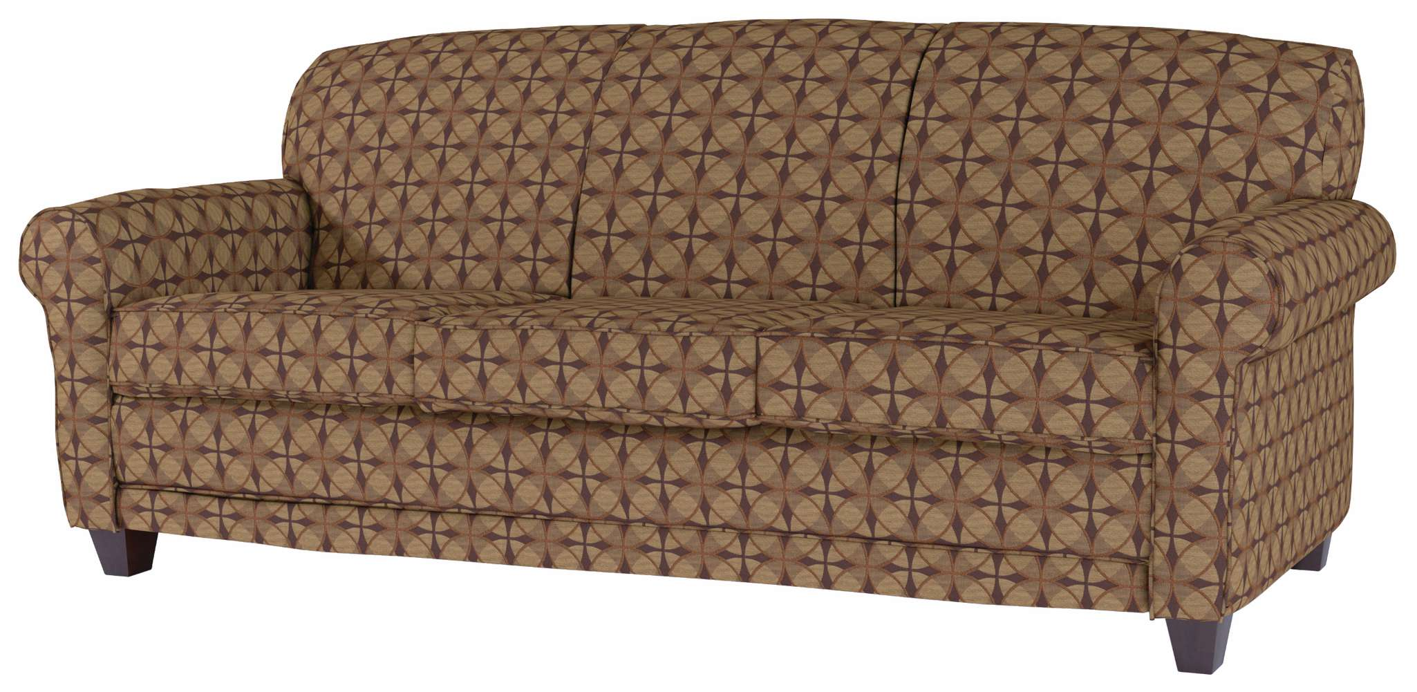 Quick-Ship Elkhart Apartment-Sized Sofa in Crypton Fabric   Maxwell ...