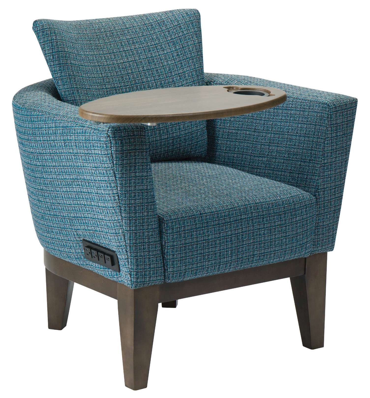 Ridgeland Tub Chair with Tablet Arm & Power Outlets | Maxwell Thomas