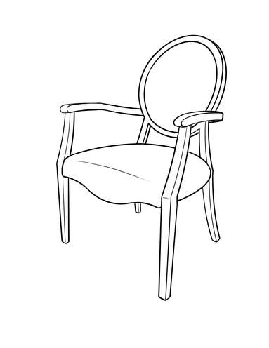 Dimensional line drawing for the Gainesville Accent Chair